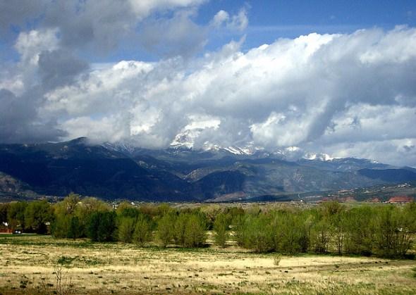 Pikes Peak near Colorado Springs