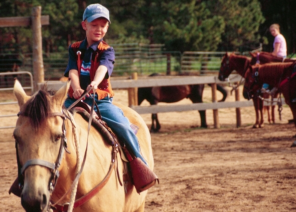 Young rider at Sundance Trail Guest Ranch