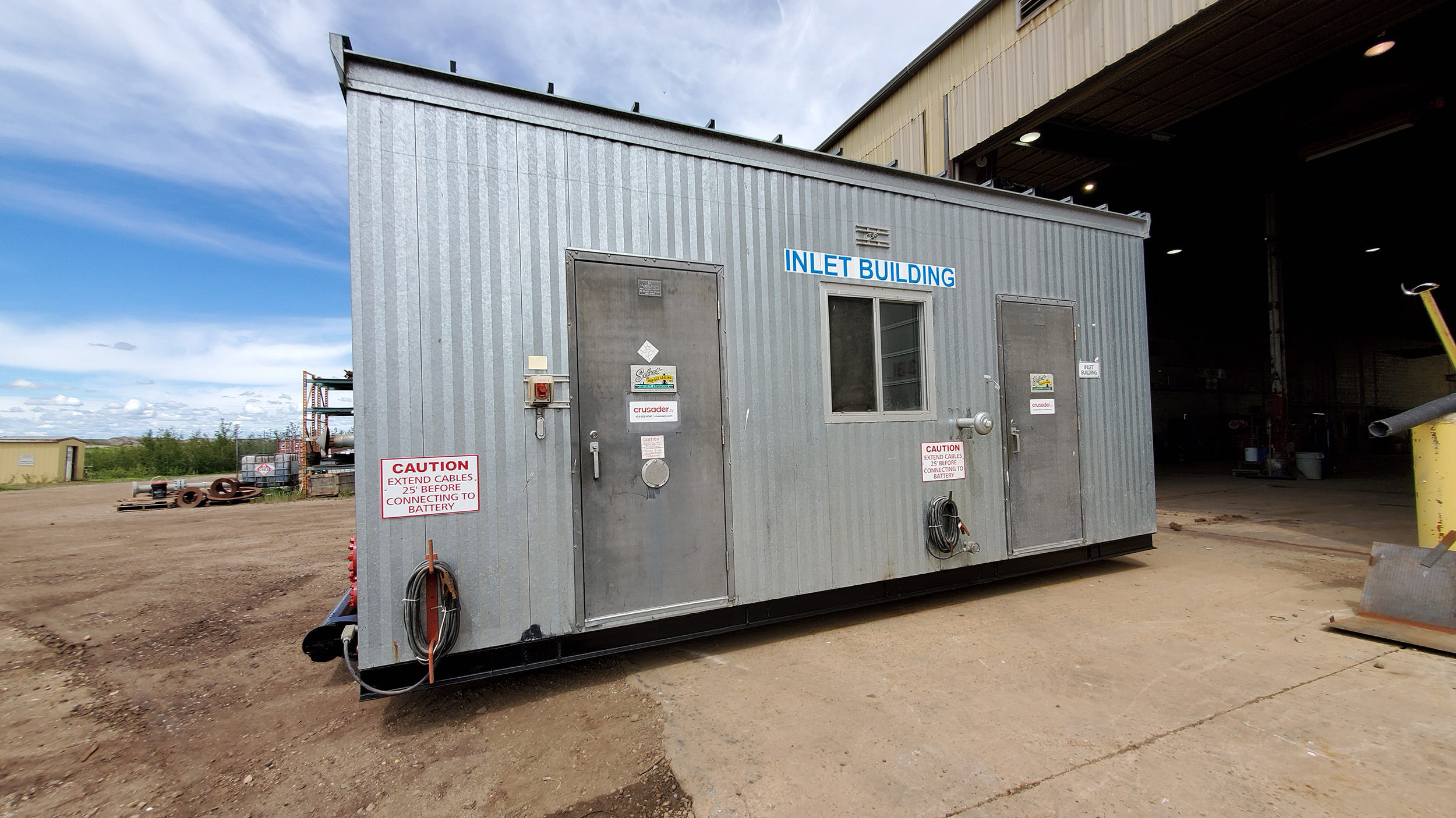 "Used Surplus 48"" x 15' 1440psi Sour Horizontal Separator For Sale Alberta Refurbished"