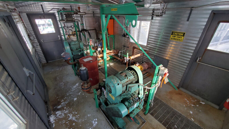 Twin 25HP Condensate Pump Package interior 1