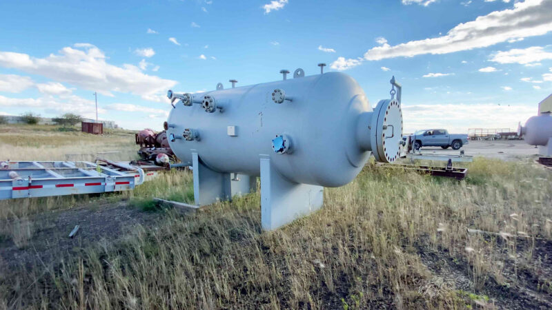 """2 New never used 60"""" x 10' Sweet 720psi Horizontal 2 Phase Vessel for sale in Alberta - packaging option available"""