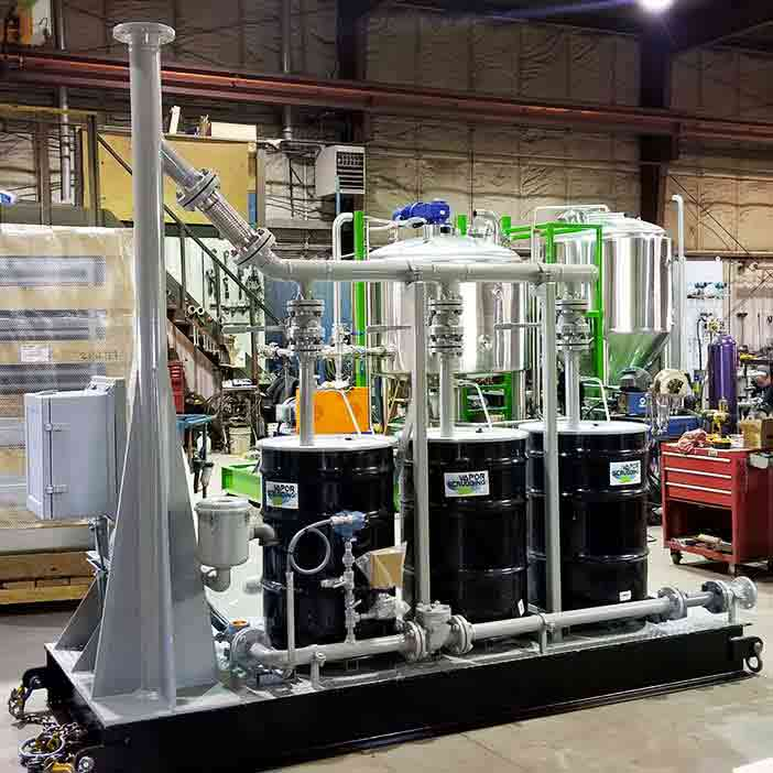 Project – vapour scrubbing unit - oilfield oil and gas equipment for sale in Alberta Canada