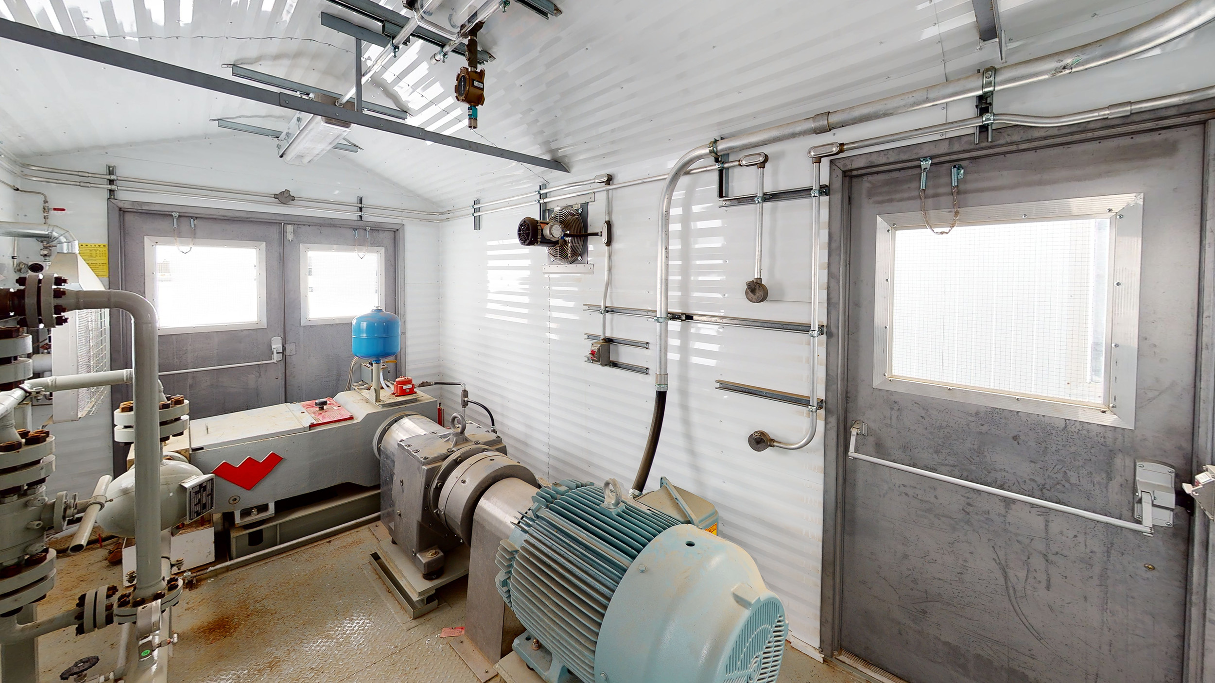 Interior 2 –150HP Weatherford W165 H fluid end W165H Jet Pump Packages for sale in Alberta Canada used surplus oilfield oil and gas energy equipment