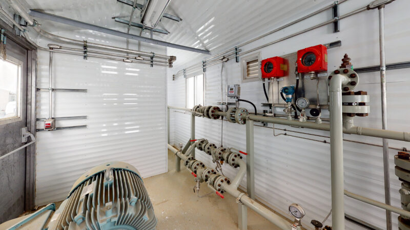 Interior 3 –150HP Weatherford W165 H fluid end W165H Jet Pump Packages for sale in Alberta Canada used surplus oilfield oil and gas energy equipment