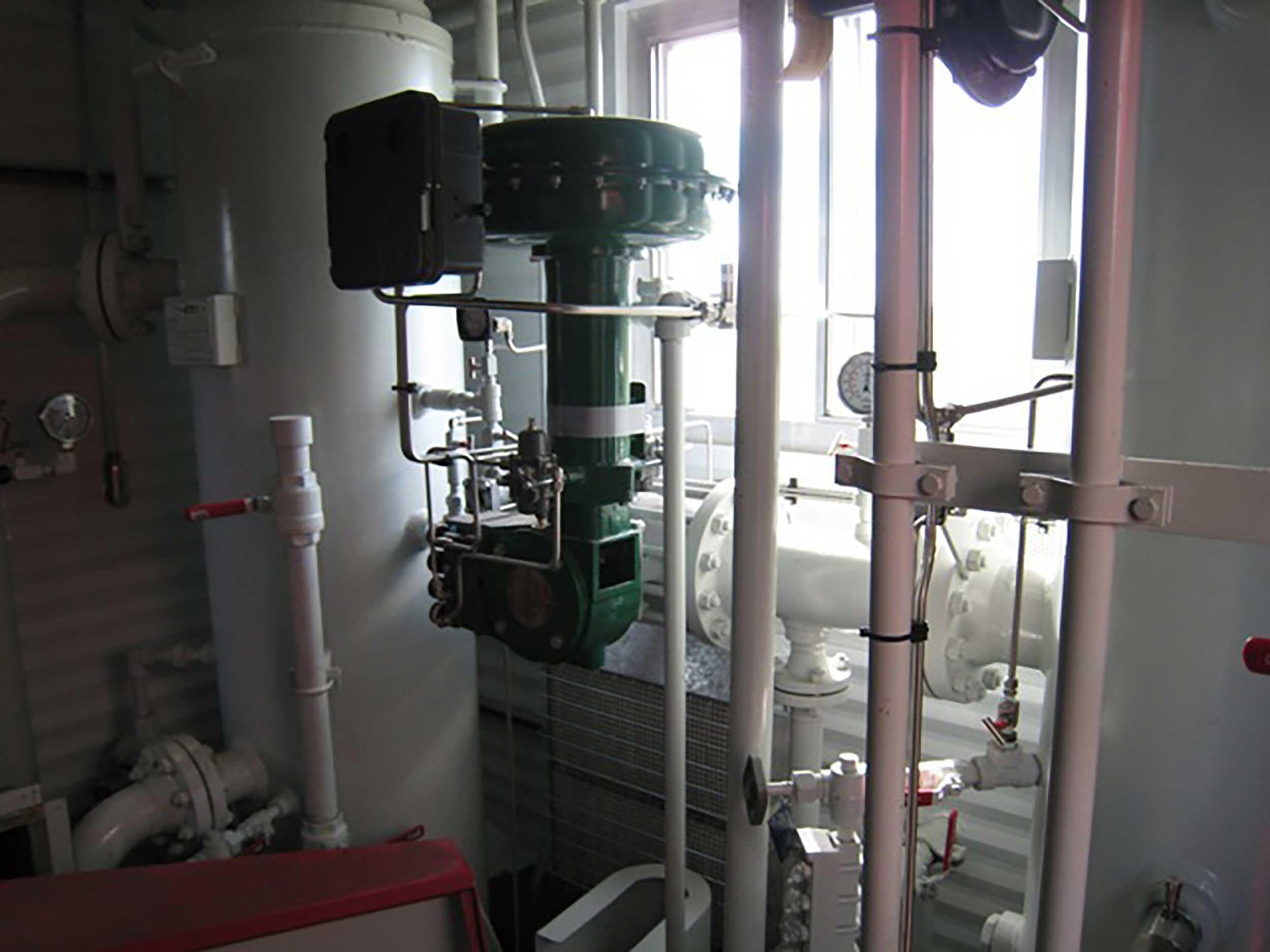 Interior 5 New / Never Used 95HP Caterpillar Vacuum Reciprocating Compressors For Sale in Alberta Canada