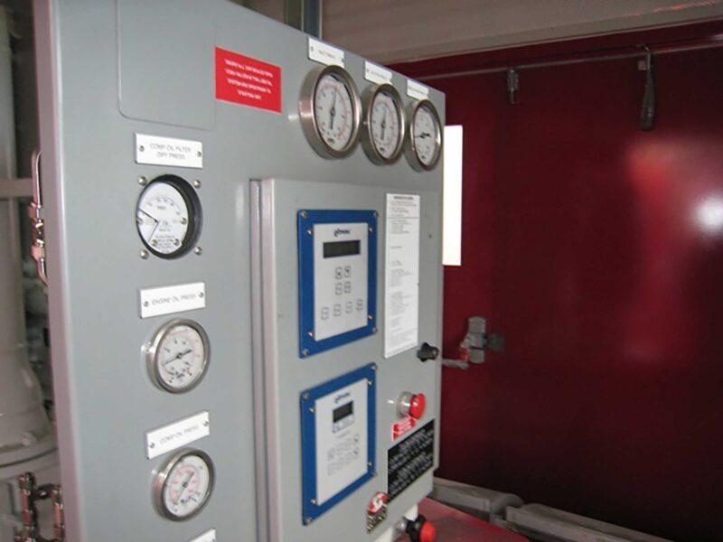 Interior 2 New / Never Used 95HP Caterpillar Vacuum Reciprocating Compressors For Sale in Alberta Canada
