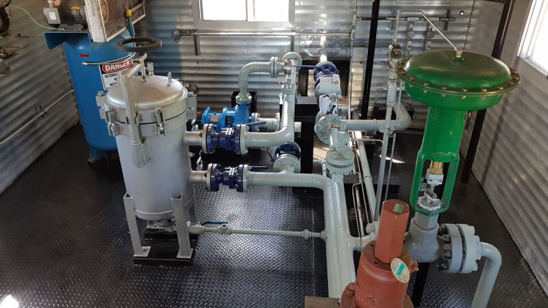 Used surplus 100HP National 100T-4M Full Sour Triplex Pump Package for sale in Fox Creek Alberta Canada oilfield oil & gas energy production equipment 6