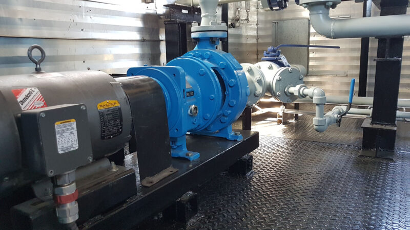 Used surplus 100HP National 100T-4M Full Sour Triplex Pump Package for sale in Fox Creek Alberta Canada oilfield oil & gas energy production equipment 9
