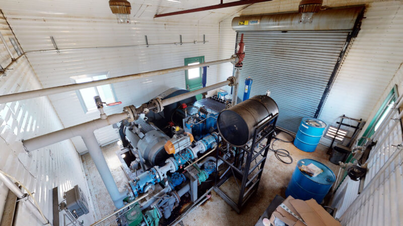 For sale –used / surplus –National Oilwell 300HP LACT Pump Package –oilfield / oil and gas / equipment in Alberta Canada –interior 1