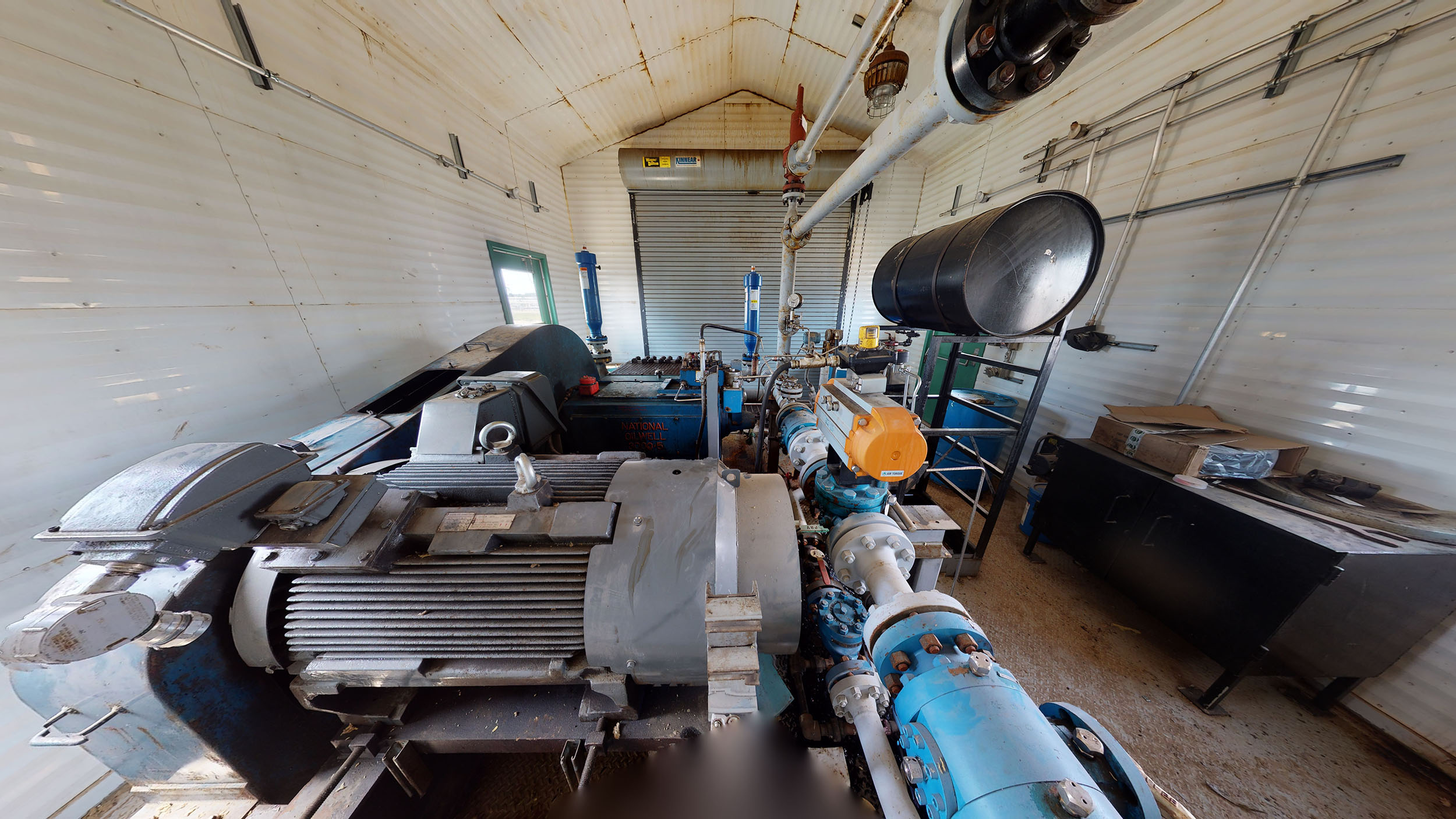 For sale –used / surplus –National Oilwell 300HP LACT Pump Package –oilfield / oil and gas / equipment in Alberta Canada –interior 2