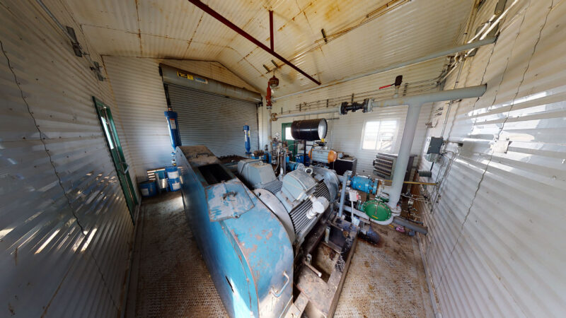 For sale –used / surplus –National Oilwell 300HP LACT Pump Package –oilfield / oil and gas / equipment in Alberta Canada –interior 3