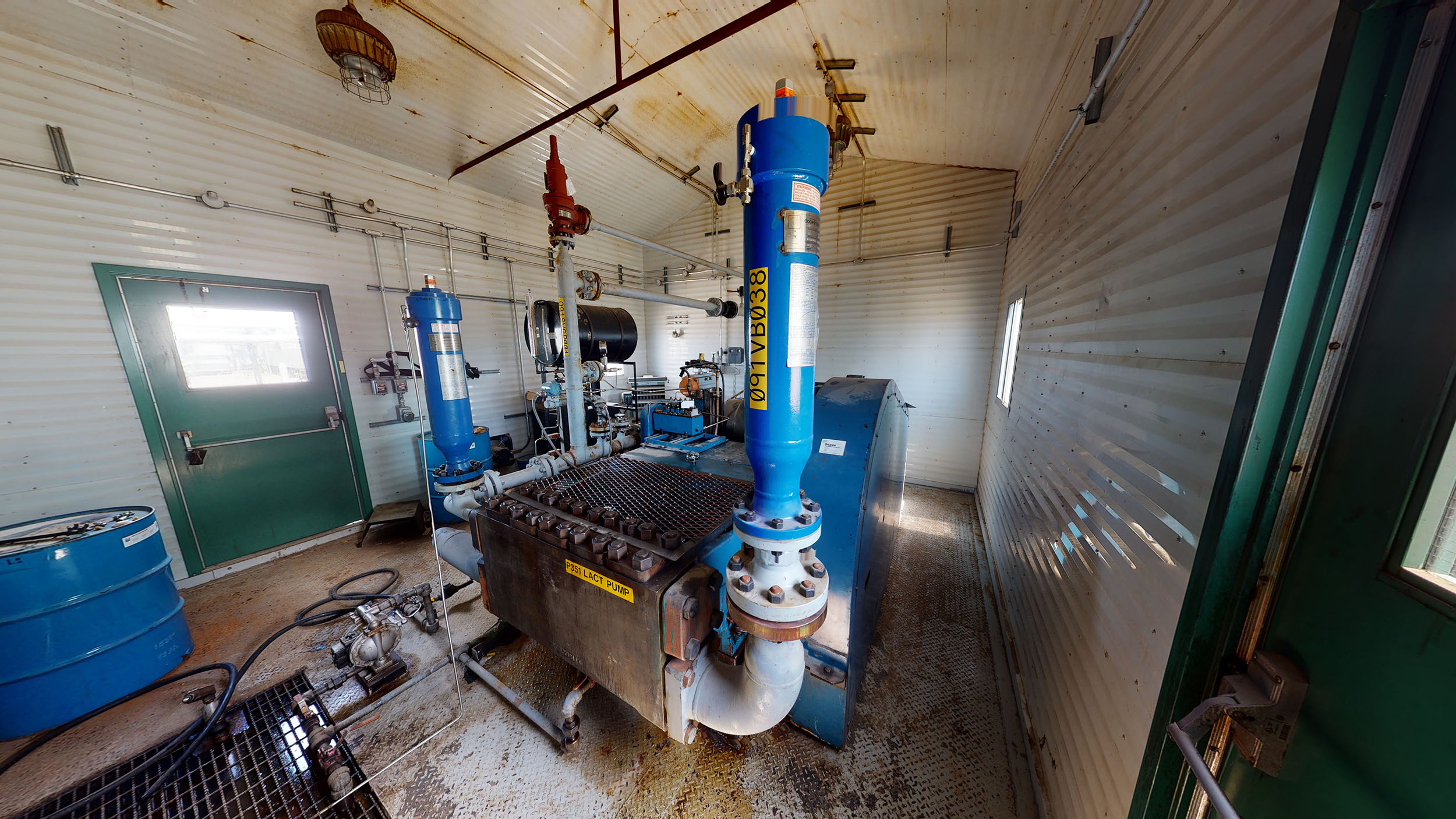 For sale –used / surplus –National Oilwell 300HP LACT Pump Package –oilfield / oil and gas / equipment in Alberta Canada –interior 4
