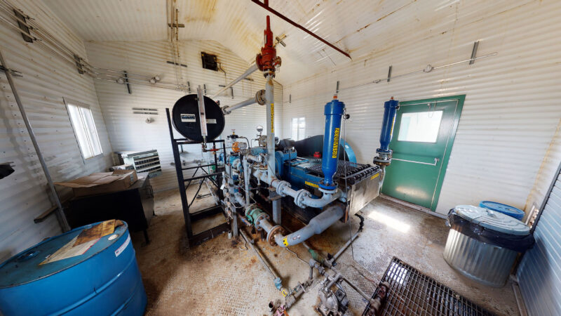 For sale –used / surplus –National Oilwell 300HP LACT Pump Package –oilfield / oil and gas / equipment in Alberta Canada –interior 6