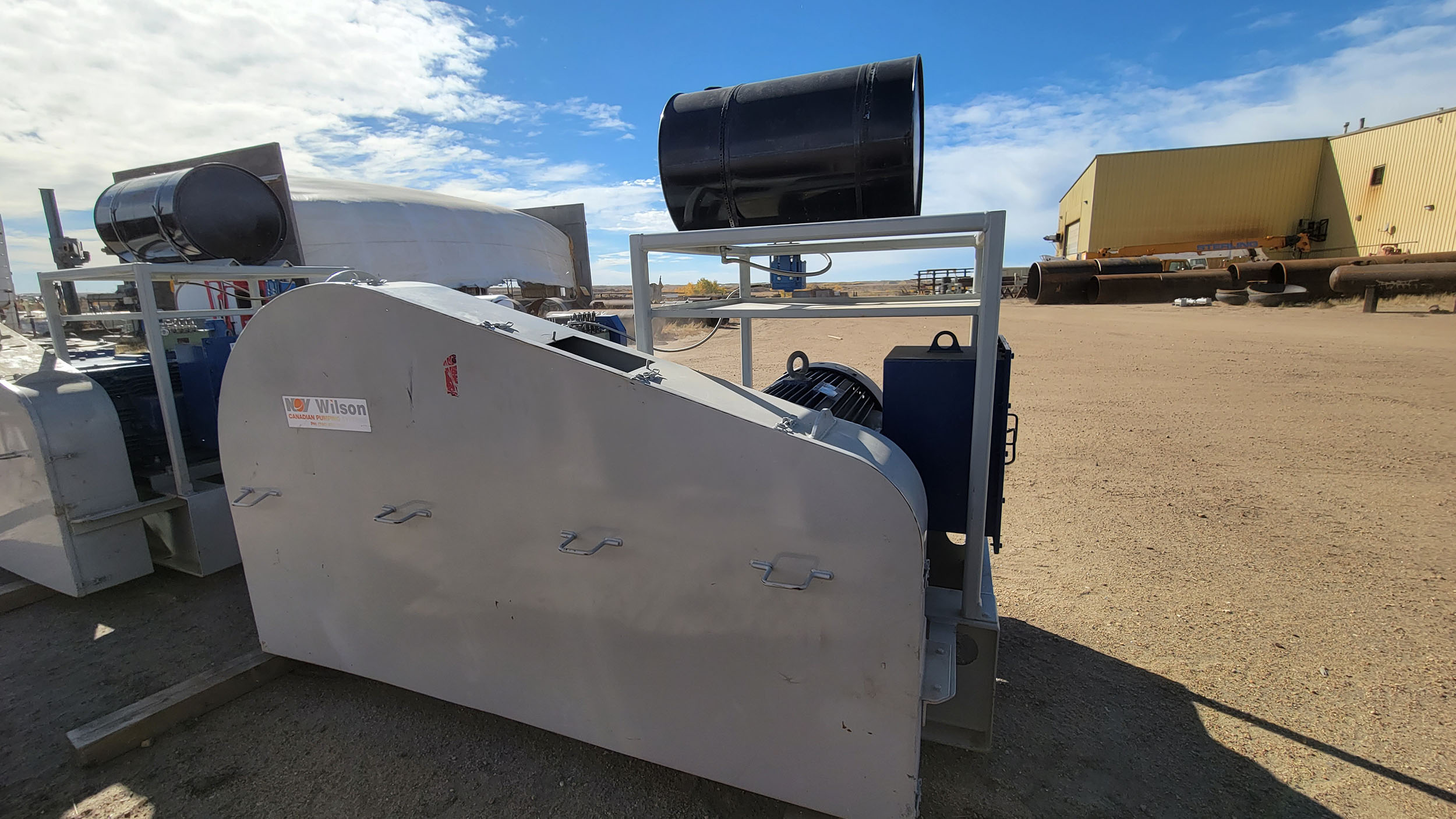 New / Never-used 300HP National 300Q-5M Unitized / Mini Skid Pumps for sale in Alberta Canada surplus oilfield oil and gas equipment 3