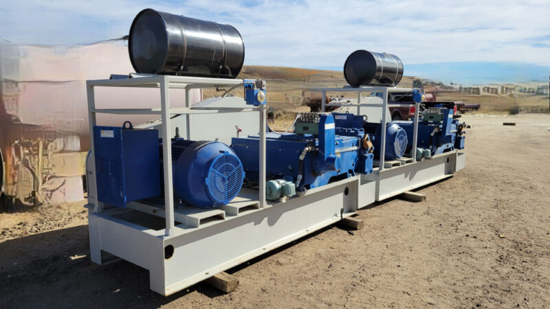 New / Never-used 300HP National 300Q-5M Unitized / Mini Skid Pumps for sale in Alberta Canada surplus oilfield oil and gas equipment 5