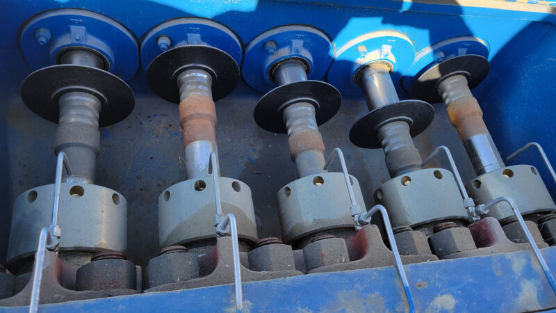 New / Never-used 300HP National 300Q-5M Unitized / Mini Skid Pumps for sale in Alberta Canada surplus oilfield oil and gas equipment 6