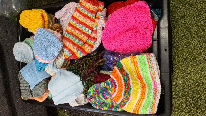 Box or donated beanies