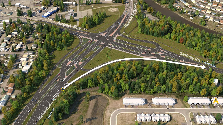 GARS Northbound Right Turn Lane