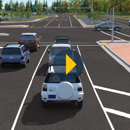 Southbound Through Lane Video