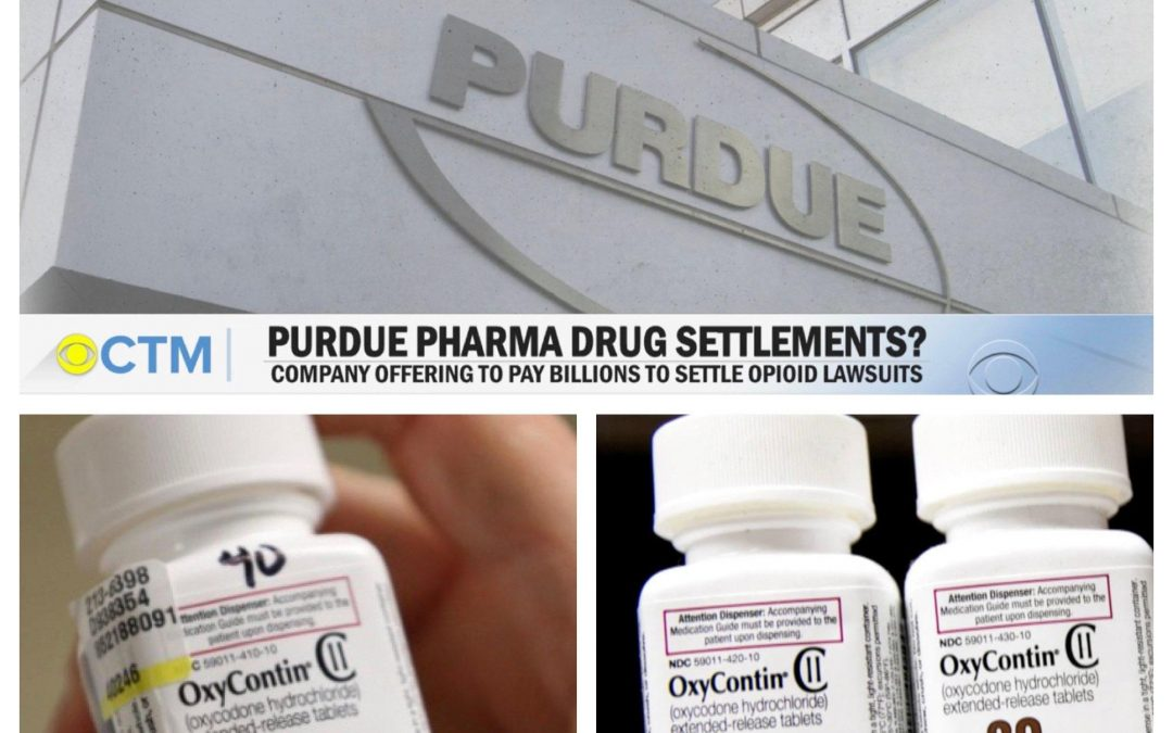 Purdue Pharma, The Maker of OxyContin, Will Plead Guilty to 3 Criminal Charges.