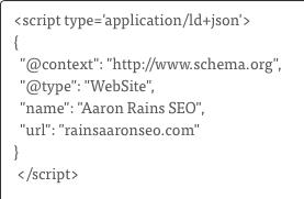 website schema markup