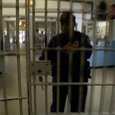 prison guard locking door