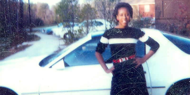 Jacquetta Thompson with car