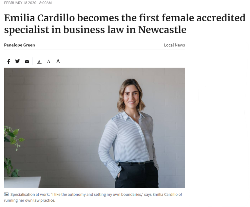 emilia-cardillo-accredited-specialist-business-law-lawyer-newcastle