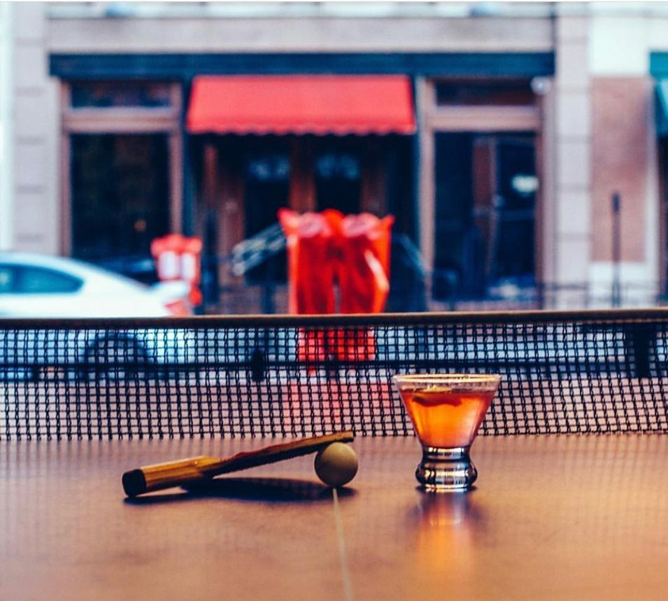 Cocktails and Ping Pong