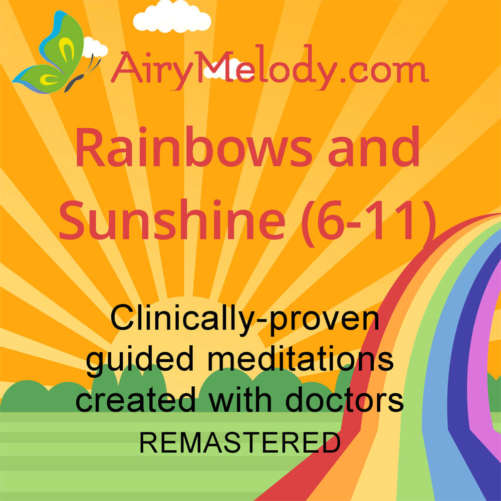 Rainbows and Sunshine guided meditations for kids