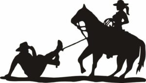 cowgirl roping cowboy