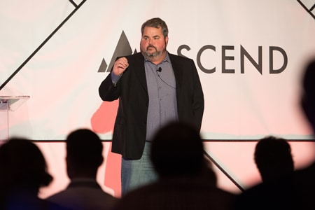 Marketing keynote speaker Jason Falls at Ascend in Philadelphia