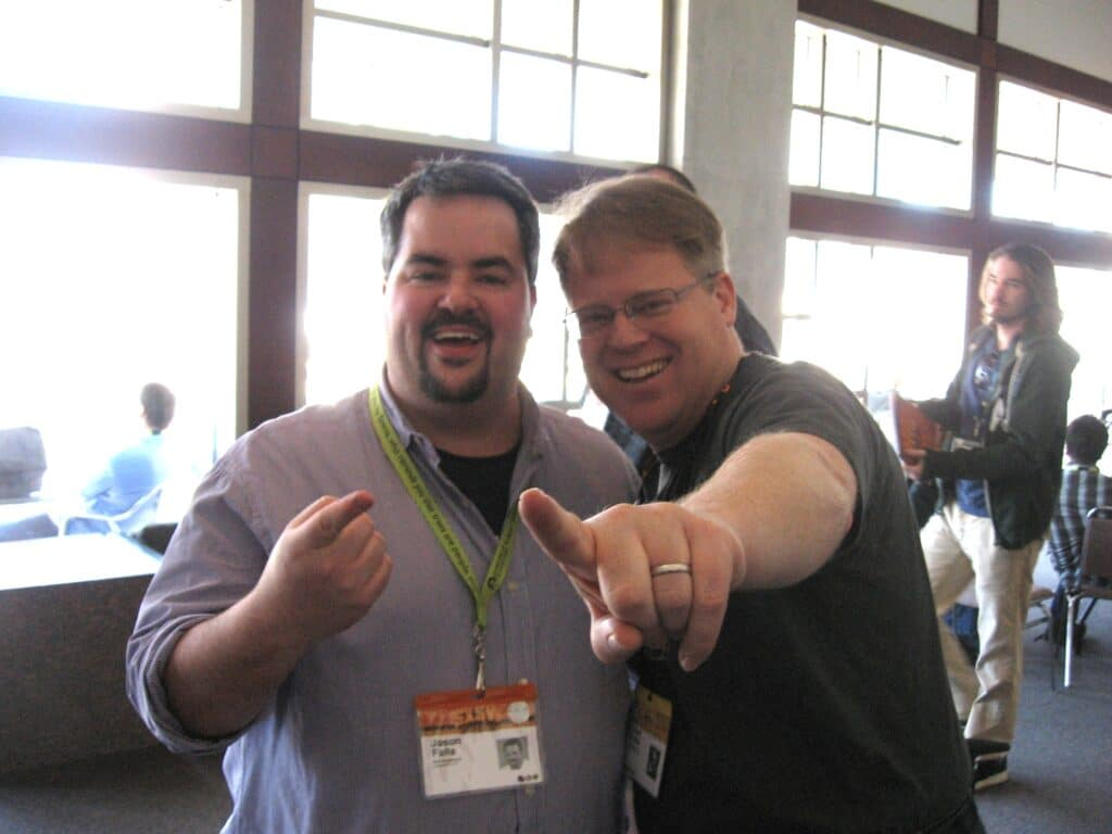 My first of several meetings with Robert Scoble