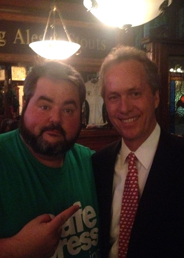 Me with the ultimate Louisville influencer, Mayor Greg Fischer