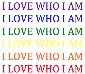 I LOVE WHO I AM