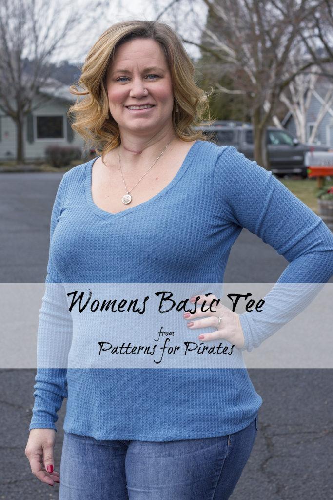 Patterns for Pirates Women's Basic Tee
