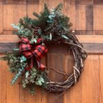 local Christmas wreath, holiday wreath, local greens