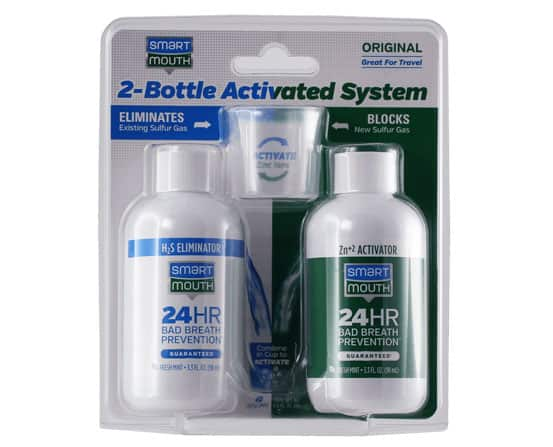 2 bottle mouthwash system