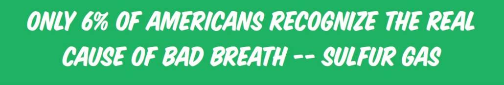Only 6 percent of Americans know the real cause of bad breath