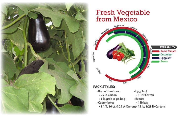 Fresh Vegetables from Mexico