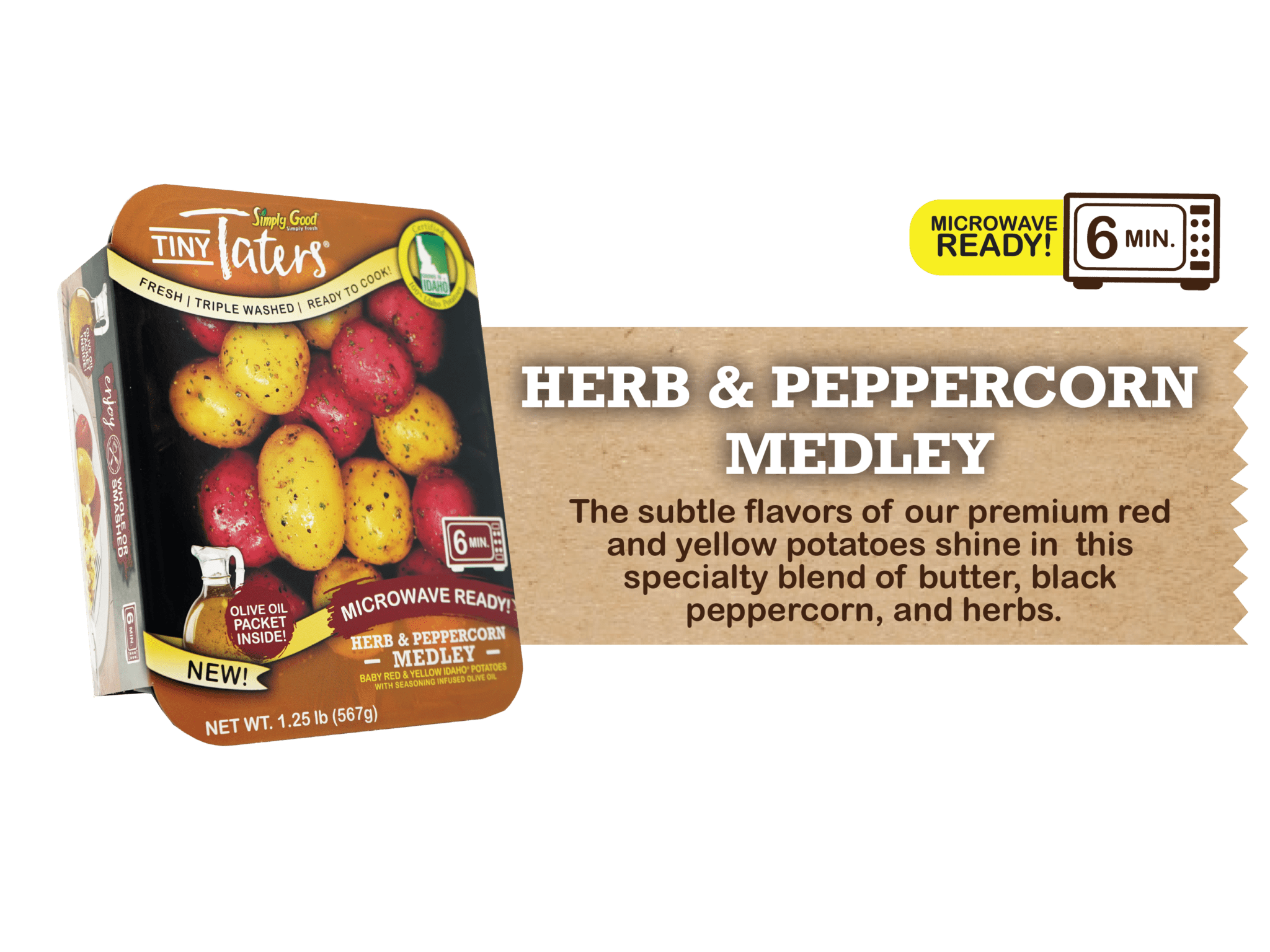 Eagle Eye Produce Tiny Taters Herb and Peppercorn Medley