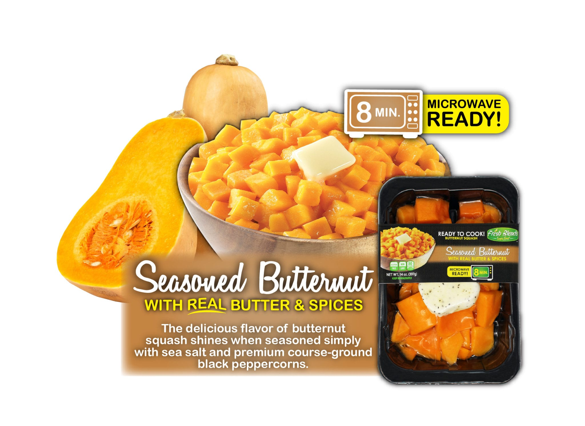 Fresh Blends Seasoned Butternut Squash