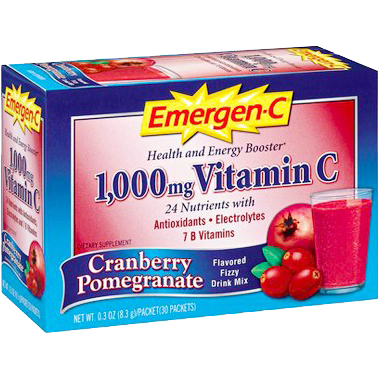 Alacer Emergen-C Cranberry Pomegranate 1000 mg 30 Count