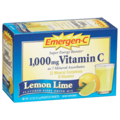 Alacer Emergen-C Lemon Lime 1000 mg 30 Count