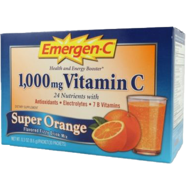 Alacer Emergen-C Super Orange 1000 mg 30 Count