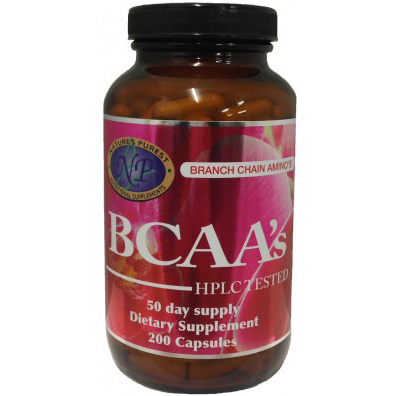 Nature's Purest BCAA's (Branch Chain Amino Acids) - 200 capsules