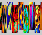 Harley Motorcycle Art Print|Flames Abstract