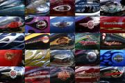 Harley Motorcycle Art Print|Harley Gas Tank Grid