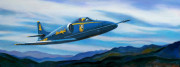 Airplane Art Print|Blue Angel  Blue Ridge
