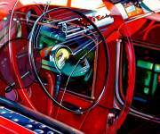 Chevrolet Car Art Prints|Bel Air Reflection